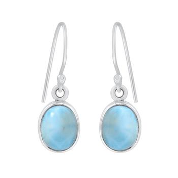 Blue crystal 925-sterling-silver-earrings