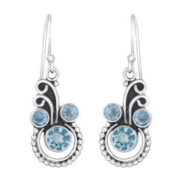 Blue topaz 925-sterling-silver-earrings