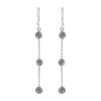 Multicolor crystal 925-sterling-silver-earrings