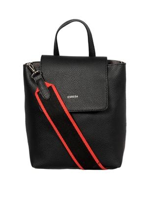 Black Color Medium Size Solid Suede Design Handbag For Women
