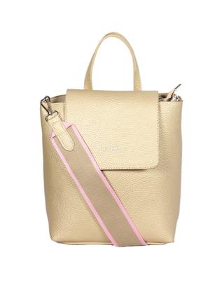 Esbeda Gold Color Medium Size Solid Suede Design Handbag For Women