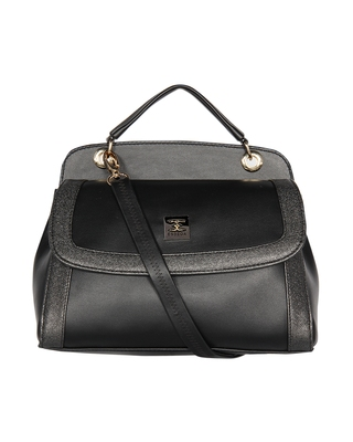 Esbeda Black Color Solid Pattern Twosided Handbag For Women