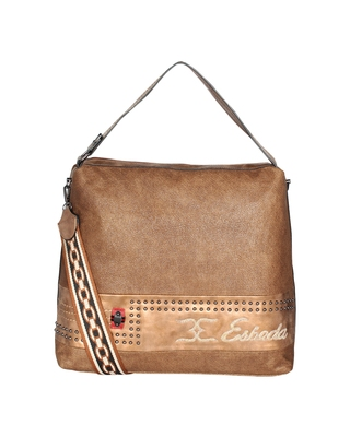 Esbeda Brown Color Emboss Pattern Gypsy Hobo bag For Women