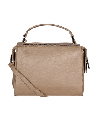 Esbeda Beige Color Solid Pattern Peperish Handbag For Women