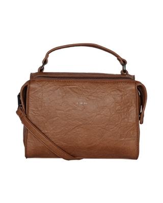 Esbeda Tan Color Solid Pattern Peperish Handbag For Women
