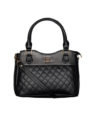 Esbeda Black Color Quilted Pattern Handbag For Women