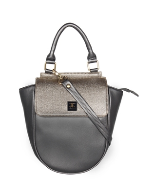 Esbeda Grey Color Cinhetic saddle Handbag For Women