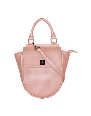 Esbeda Pink Color Cinhetic saddle Handbag For Women