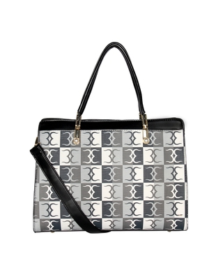 Esbeda Black Color Logo Print Handbag For Women