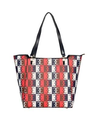 Esbeda Red Color Logo Print Handbag For Women