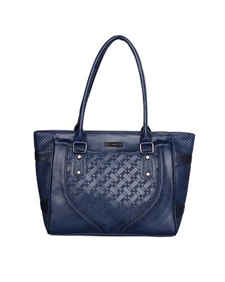 Esbeda Blue Color Solid Blissy Handbag For Women