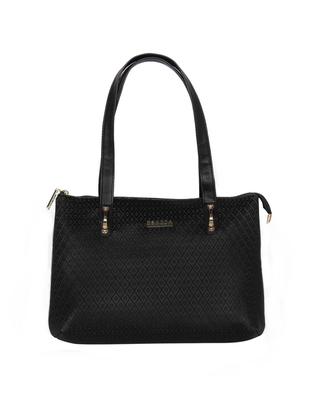 Esbeda Black Color Embossed Textured Handbag For Women