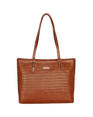 Esbeda Light Tan Color Embossed Textured Handbag For Women
