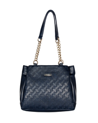 Esbeda Blue Color Embossed Textured Handbag For Women