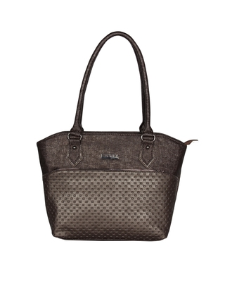 Esbeda Coffee Color Glitter Emboss Hand bag For women