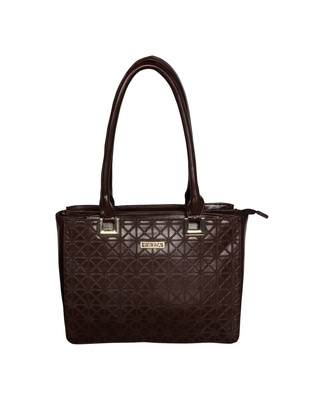 Esbeda Brown Color Solid Pattern Textured Handbag For Women