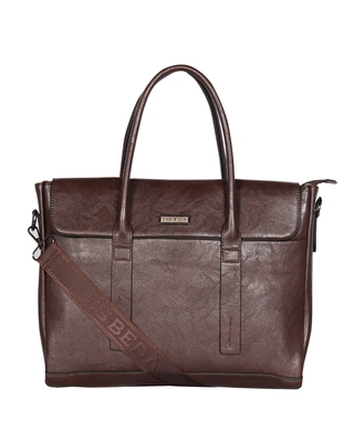 Esbeda Coffee Color Regular Size Metropolitan Laptop bag For Men