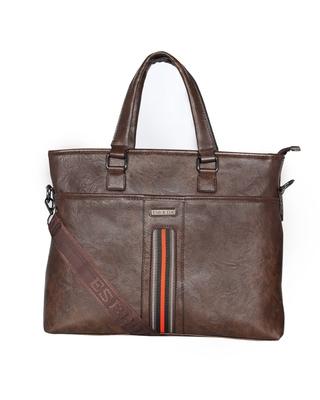 Esbeda Brown Color Regular Size Voyagar Laptopbag For Men