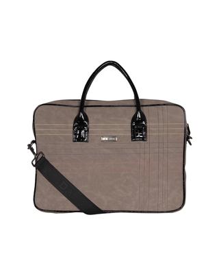 Esbeda Grey Color Stitch Line Laptop bag For mens & women