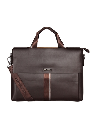 Esbeda Brown Color Double Sided Briefcase For Mens and Women
