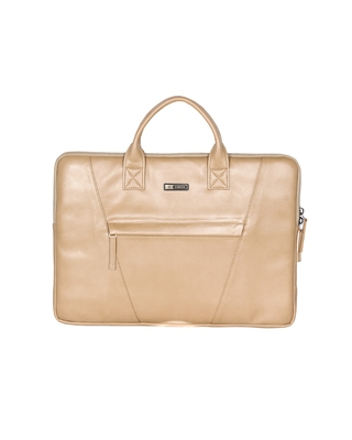 Esbeda Cream Color Solid Laptop Sleeve For Mens and womens