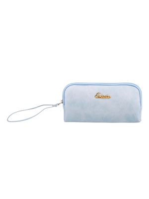 Esbeda L-Blue Color Solid Pu Synthetic Material Pouch For Womens