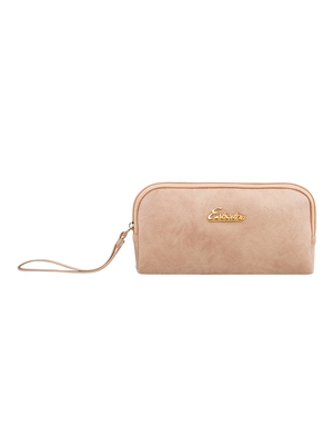 Esbeda Beige Color Solid Pu Synthetic Material Pouch For Womens