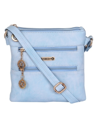 Esbeda ladies Sling Bag L.BLUE color