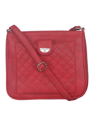 Esbeda Red color Quilted Slingbag for womens