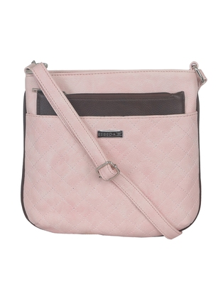 Esbeda Light Pink color Quilted Slingbag for womens