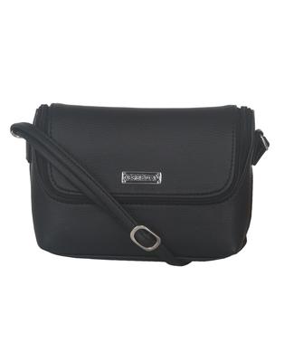 Esbeda Black color Solid Slingbag for womens