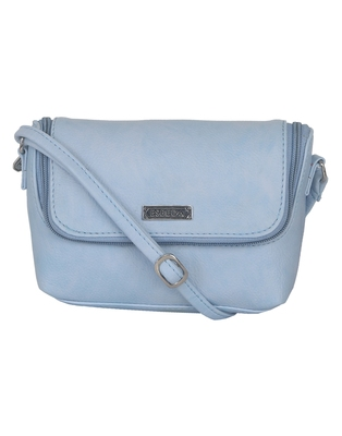 Esbeda Light Blue color Solid Slingbag for womens