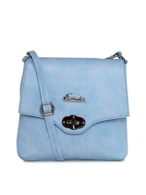 Esbeda Light Blue color Solid women's slingbag