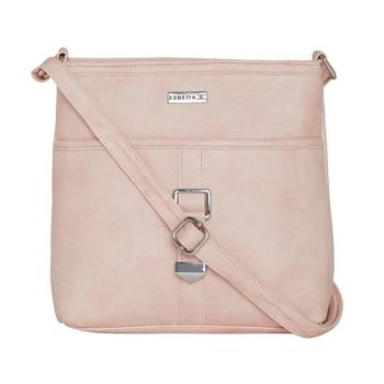 Esbeda Light Pink color Solid Drymilk slingbag for women