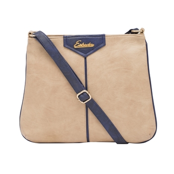 Esbeda Beige Color Solid Pu Synthetic Material Slingbag For Women