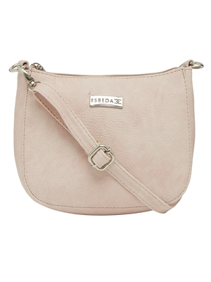 Esbeda Pink Color Solid Pu Synthetic Material Slingbag For Women