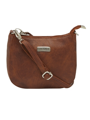 Esbeda Tan Color Solid Pu Synthetic Material Slingbag For Women