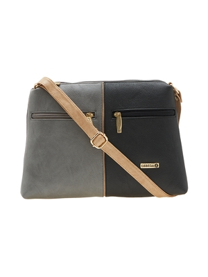 Esbeda Black Color Solid Pu Synthetic Material Slingbag For Women