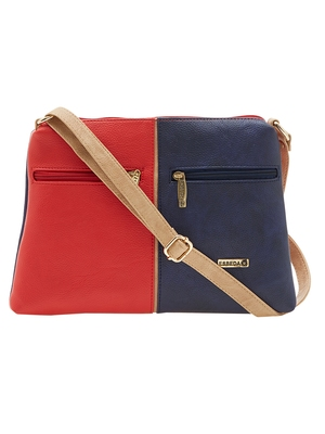 Esbeda Red Color Solid Pu Synthetic Material Slingbag For Women