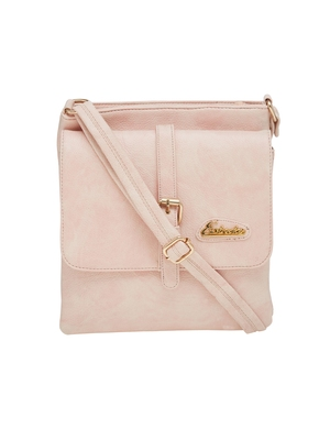 Esbeda Pink Solid Pu Synthetic Material Slingbag For Women