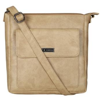 Esbeda Drymilk Beige PU Synthetic Slingbag For Women's