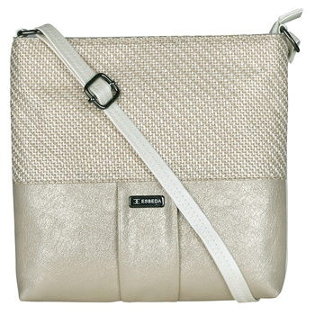 Esbeda Gold Color PU Synthetic Material Goldie Jute Slingbag For Womens