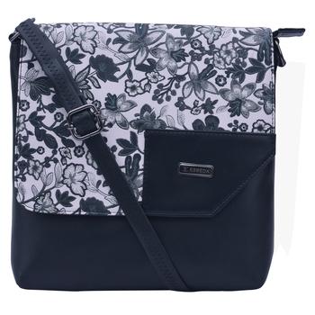 Esbeda Black Color Medium Size Floral Pattern Slingbag