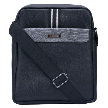 Esbeda Black Color Medium Size Drymilk Stripe Slingbag for Men's