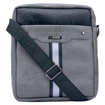 Esbeda Grey Color Medium Size Croco Stripe Slingbag