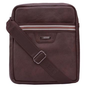 Esbeda Brown Color Medium Size Drymilk Stripe Slingbag for men's