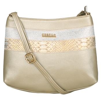 Esbeda Gold Color Medium Size Chunky Glitter Slingbag For Womens