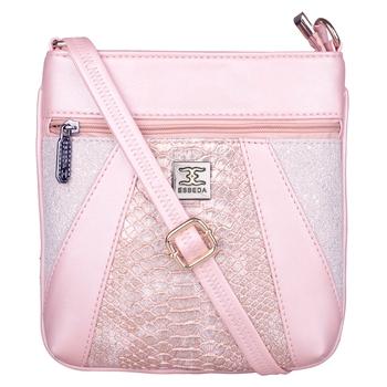 Esbeda Pink Color Medium Size Damask Slingbag For Womens