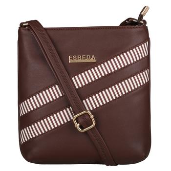 Esbeda Brown Color Medium Size Rayon Slingbag For Womens