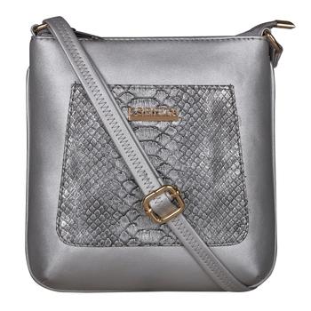 Esbeda Silver Color Medium Size Shiny Glitter Slingbag For Womens